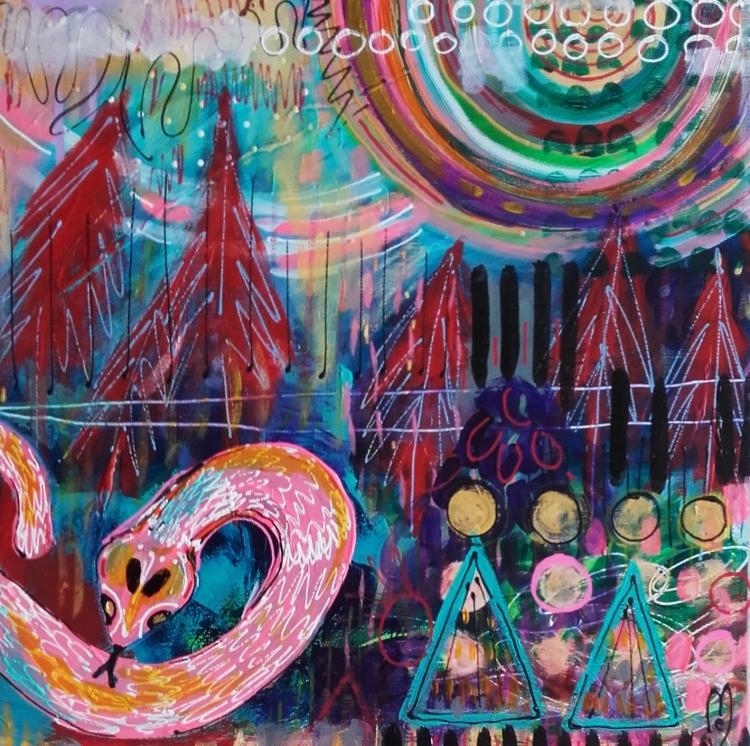 TABLEAU PEINTURE serpent - serpent