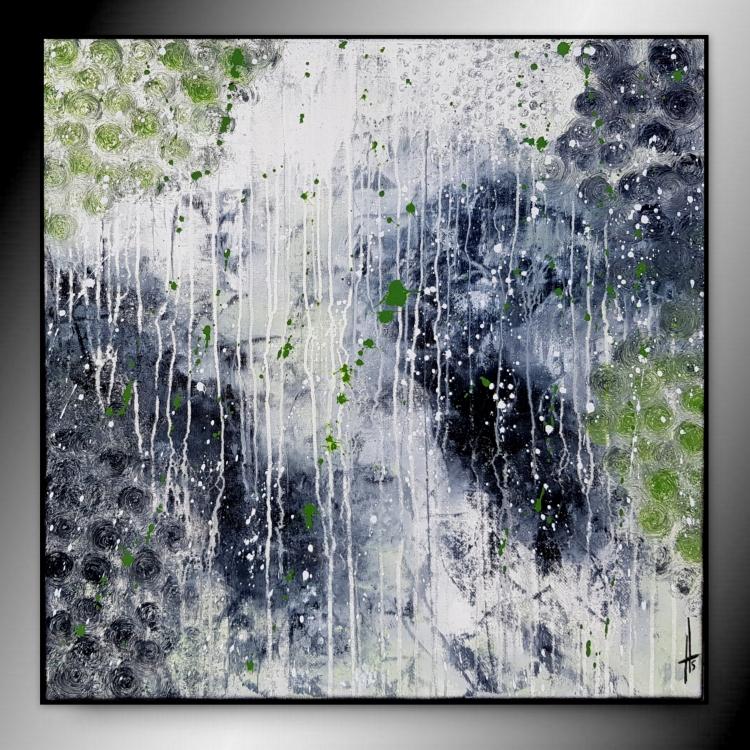 TABLEAU PEINTURE tableau abstrait contemporain fait main - FASCINATION