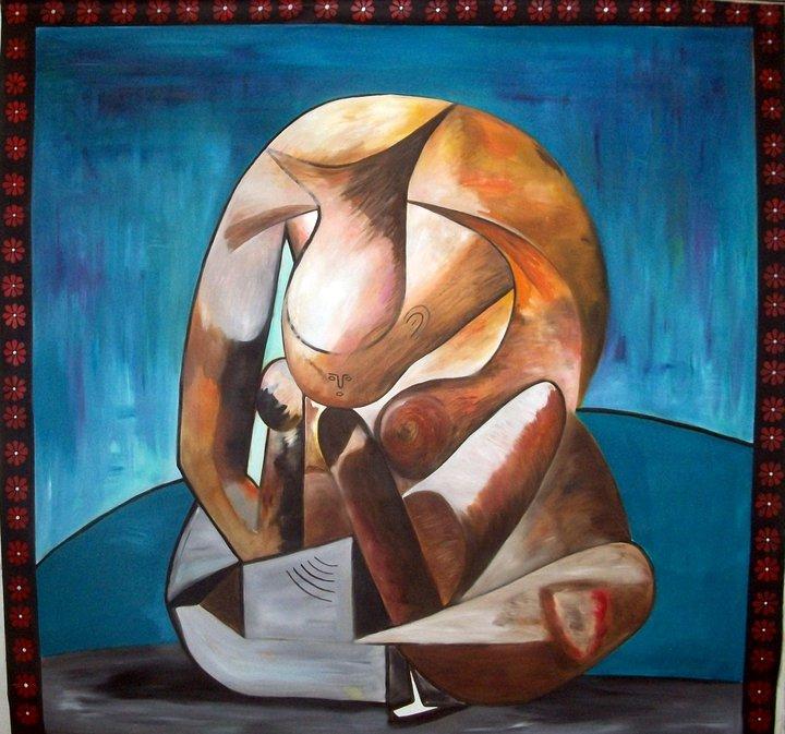 Tableau Peinture Art Personnages Peinture