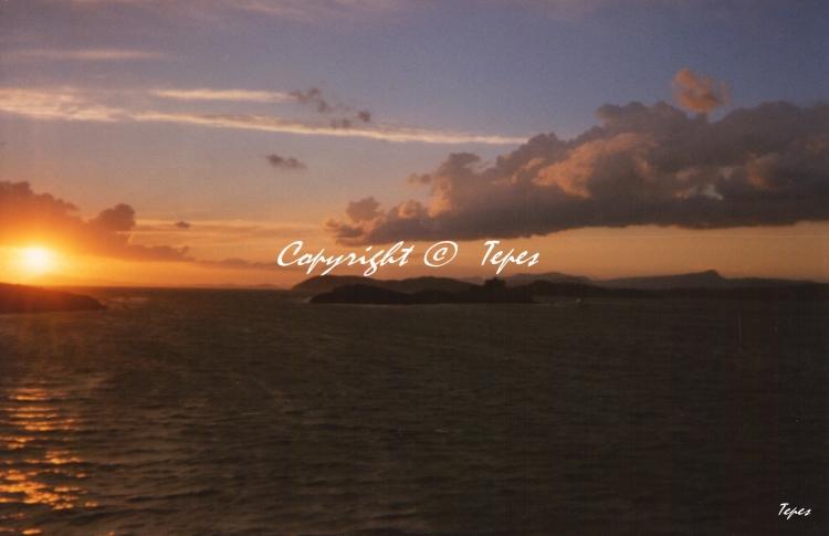 PHOTO soleil coucher mer horizon - Horizon