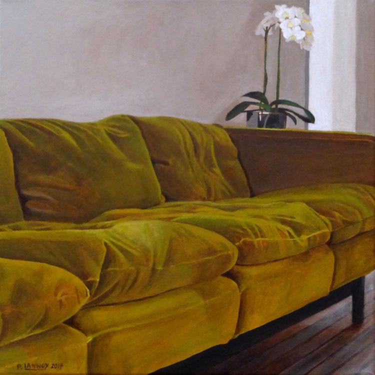 TABLEAU PEINTURE - Intérieur N°56 The Green Sofa