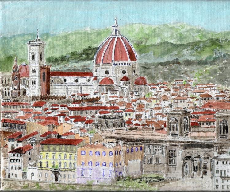 TABLEAU PEINTURE Florence Italie - FLORENCE