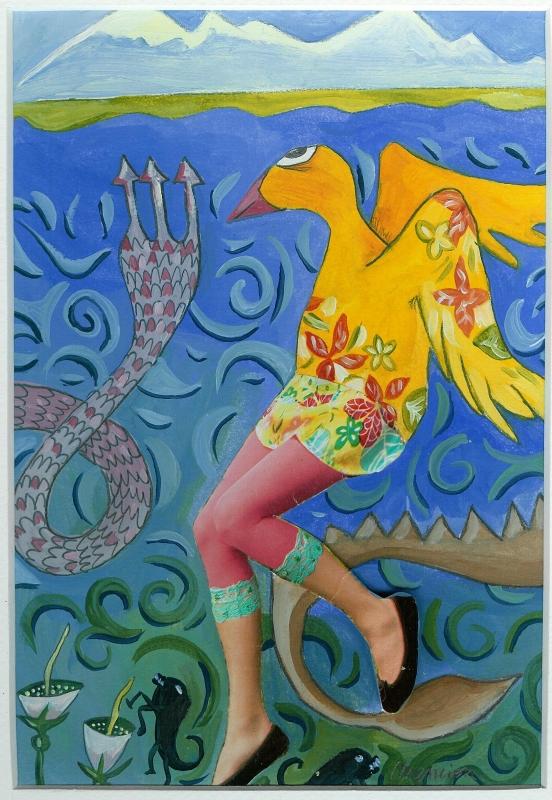 TABLEAU PEINTURE Bestiare animaux couleur - Balatx i Lanos