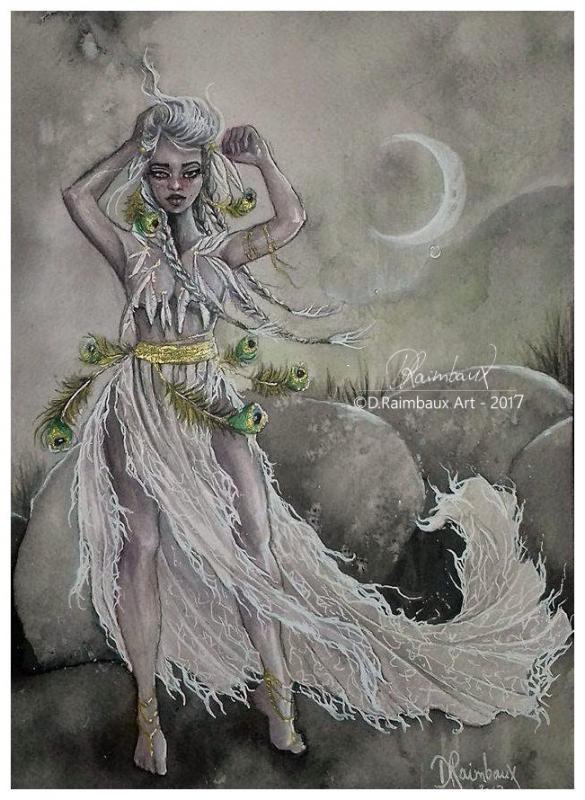 DESSIN fantasy imaginaire reve femme - L'Eveil