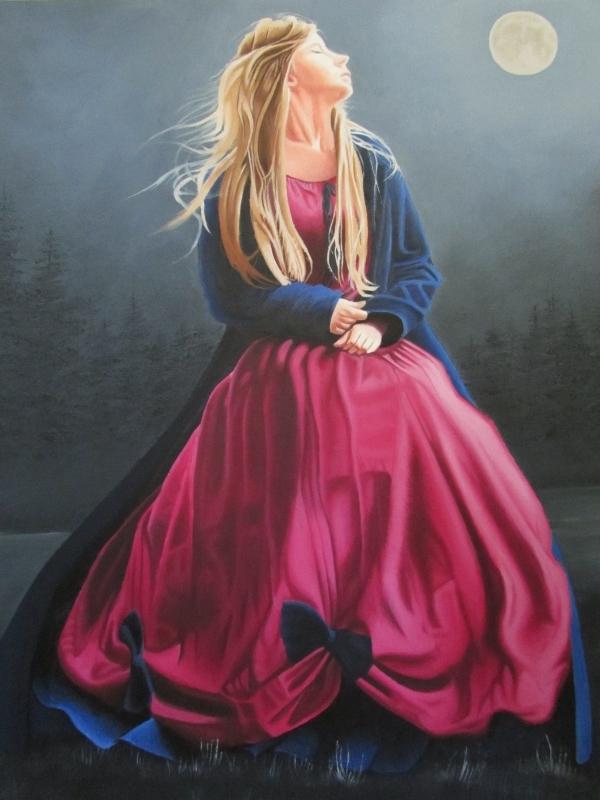 TABLEAU PEINTURE Morgane - Dans la tiédeur de la nuit
