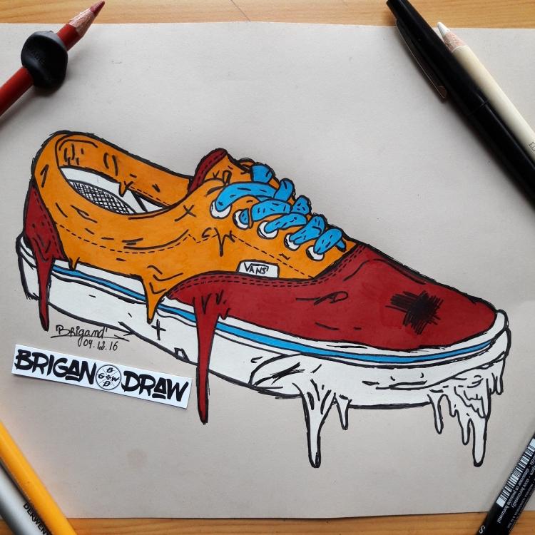 chaussure vans dessin