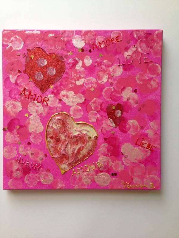 TABLEAU PEINTURE amour - Amour
