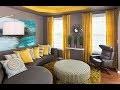 décoration salon jaune et gris