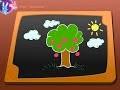 Dessin enfant, comment dessiner un arbre, un paysage