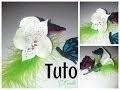 Tuto fimo fleur blanche/ polymer clay white flower