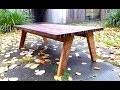 Fabrication d'une table basse en chêne et noyer, prototype, incrustations