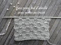 TUTO NID ABEILLE  AVEC PERLES AU TRICOT Knitting with beads TEJER PUNTO CON PERLA DOS AGUJAS
