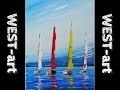 marine n°5 (voiliers a l'acrylique)