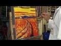 Peinture d'un paysage coloriste en speed painting