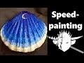 Speed-art _ paysage sur coquillage