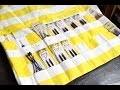 Tuto couture : trousse à poches (pour aiguilles de tricot ou autre) ✨ Marion Blush
