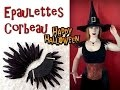 [Tuto Halloween] Costume: Epaulettes corbeau