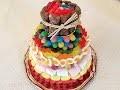Recette Gâteau de bonbons / How to make a candy cake