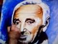 Portrait de Charles Aznavour Oil Painting