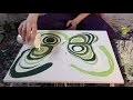 Peinture Fluide - Explications - Cellules - VERT