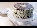 Mudcake chocolat déco dentelle