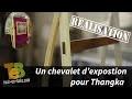 Bois lamellé collé pour un chevalet d'exposition design / Thangka #toutenbois