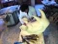 Stop motion rhinocéros sculpture