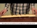 Réalisation d'un porte-verre en bois