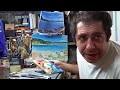 Cours de peinture : Peindre un paysage partie 2