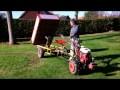 Motoculteur avec remorque basculante hydraulique