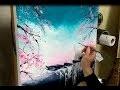COURS DE PEINTURE AU COUTEAU:  PAYSAGE ZEN JAPONAIS par Nelly LESTRADE