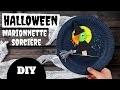 TUTO / DIY Halloween - Marionnette Sorcière (Bricolage facile pour enfants)
