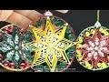 DIY - BOULE de Noël en papier avec 3 techniques de QUILLING