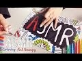 ASMR Français ~ Coloring, Art therapy / Coloriage, Art thérapie