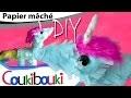 DIY Licorne en papier mâché | activité artistique pour enfant - Comment faire ? How to Make ?