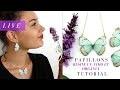 DIY Bijoux papillons en résine UV LED Fimo et organza