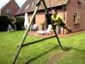 gym trapeze dans le jardin