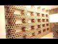 Décoration d'une boutique avec des rouleaux en carton une 1ere en TUNISIE