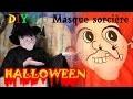 Faire son masque de sorcière en carton pour'Halloween
