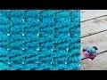 Crochet Point flèches fantaisie très facile / Arrow stitch crochet (english subtitles)