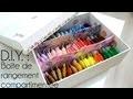 Tutoriel - D.I.Y. : Comment faire une boîte compartimentée - Embroidery Thread Storage