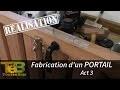 Travail du bois - la fabrication d'un portail en bois , act 3