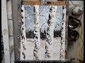 """Cours de peinture au couteau """"Les arbres sous la neige"""" par Nelly LESTRADE"""