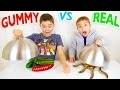 GUMMY FOOD VS REAL FOOD CHALLENGE - Bonbons ou Vraie Nourriture ?