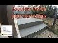 Escalier beton pour carrelage
