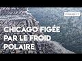 Froid polaire en Amérique du nord : les images aériennes de Chicago figée