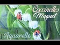 [Démo d'aquarelle] Muguet et Coccinelles