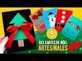 5 DIY DES  CARTES de NOËL pour les enfants * Des CARTES artisanales pour NOËL