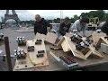 14 juillet: derniers préparatifs au pied de la Tour Eiffel - 13/07