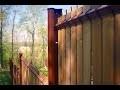 """Kit d'occultation de clôture """"Aquiwood"""" en bois"""